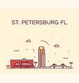 st petersburg skyline pinellas florida usa vector image vector image