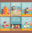 surf posters set vector image vector image