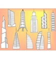 Tall buildings coloring book vector image vector image