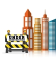 under construction barrier road building vector image vector image