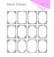 vintage borders vignette frames vector image