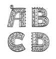 Vintage set of initial letters vector image