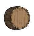 Wooden barrel top object vector image