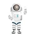 Male astronaut cartoon colorful icon vector image