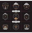 Set of Badges Camping and Hiking vector image