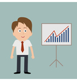 Businessman and board with success diagram vector image