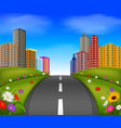 a nice view of a city with tall building vector image