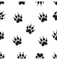 Animal - birds and mammals footprints silhouettes vector image