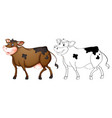 animal outline for happy cow vector image vector image