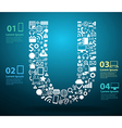 application icons alphabet letters u design