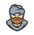 arabic man cartoon vector image vector image