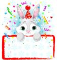 Baby bunny new year frame