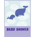 Baby shower invitation card with cute cartoon vector image