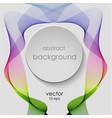 band abstract rainbow lines smoke icon vector image vector image