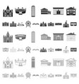 building repair cartoon icons in set collection vector image