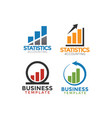 business consulting logo icon graphic design vector image vector image