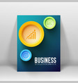 business presentation template vector image vector image
