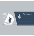 Business size comparison or enlargement vector image vector image
