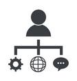 business social network cartoon vector image vector image