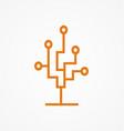 circuit technology tree logo vector image