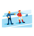 coach training player before substitution vector image vector image