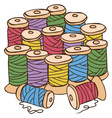 colored threads vector image vector image