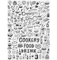 cooking food doodles vector image