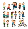 Couples in love set vector image vector image