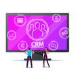 crm system customer relationship management vector image vector image