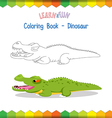 Crocodile coloring book educational game vector image vector image
