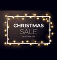 dark christmas sale design with glowing golden vector image vector image