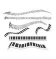 different keyboard for piano vector image vector image