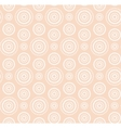 Dots circles white pattern on warm beige vector image