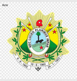 emblem of acre state of brazil vector image vector image