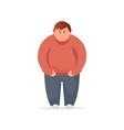 fat man flat vector image vector image