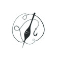 fishing hook with float vector image vector image