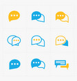 flat colorful speech bubble icons vector image