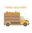 food delivery - pumpkins car truck vector image vector image