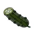 fresh cucumber vegetable vector image vector image