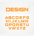geometric minimalist technological design font vector image vector image