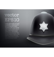 helmet of British police background vector image vector image