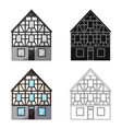house single icon in cartoon stylehouse vector image