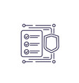 insurance claim icon line vector image vector image