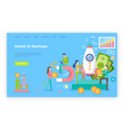 invest in startup people with money and rocket vector image vector image