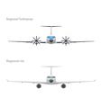 jet and regional turboprop vector image vector image
