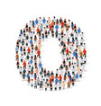 large group people in number 0 zero form vector image vector image