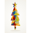 Merry Christmas trendy tree composition EPS10 file vector image vector image