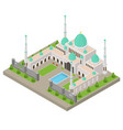mosque building concept 3d isometric view vector image