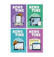 news time cards vector image