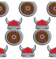 norway history vikings armory seamless pattern vector image